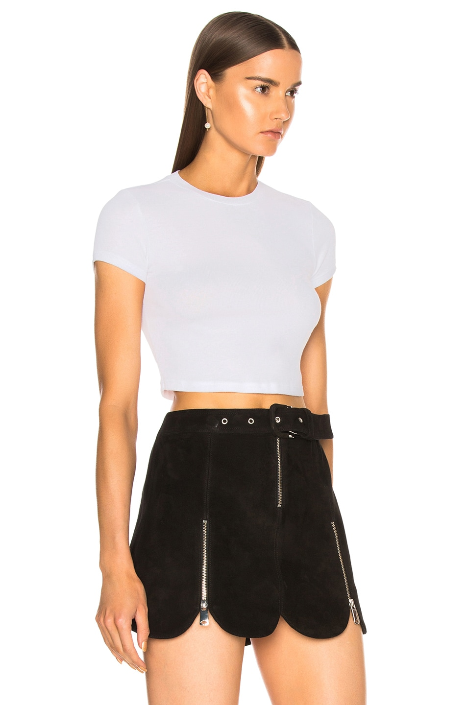 Image 2 of COTTON CITIZEN Venice Crop Tee in White