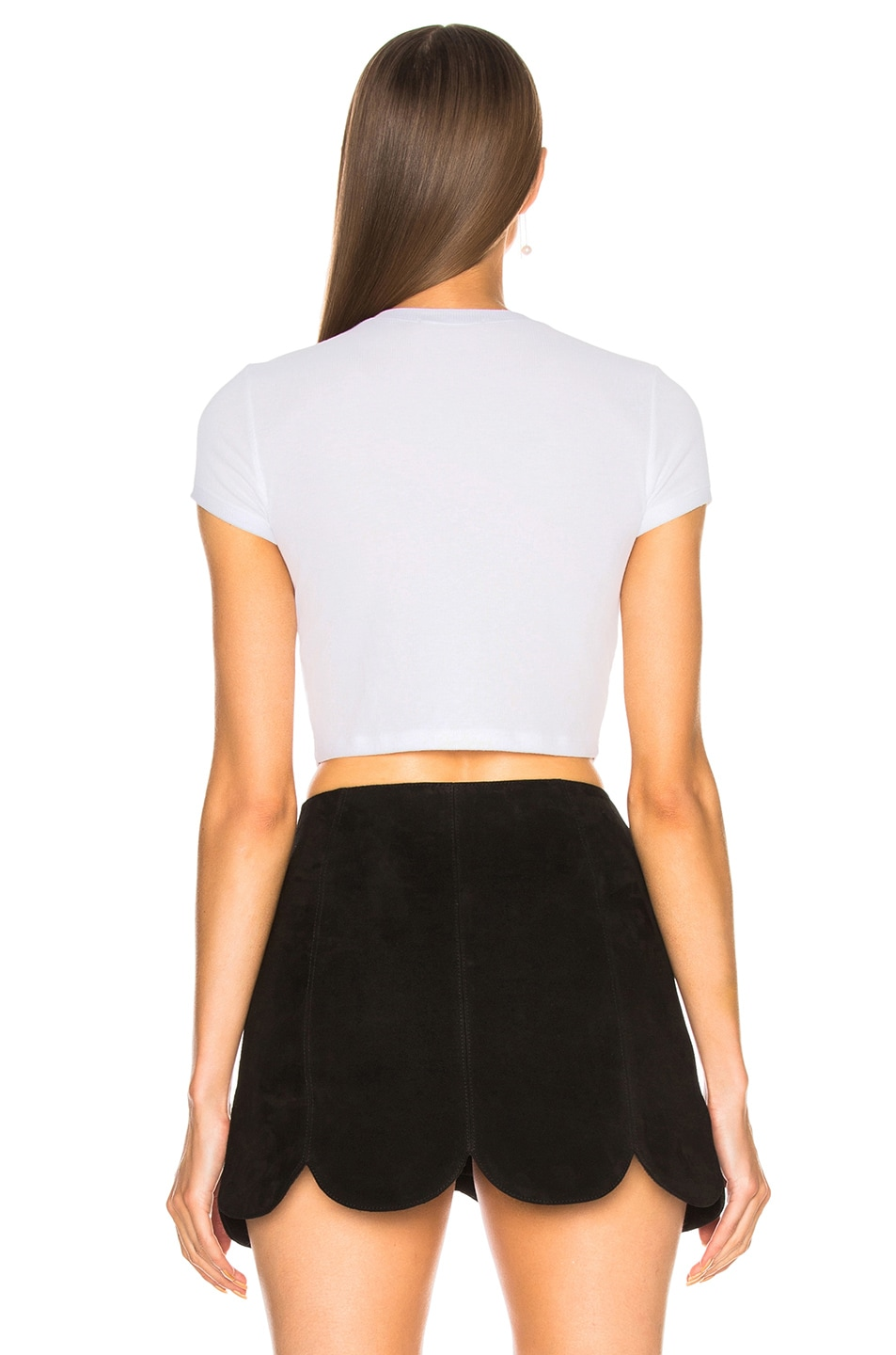 Image 3 of COTTON CITIZEN Venice Crop Tee in White