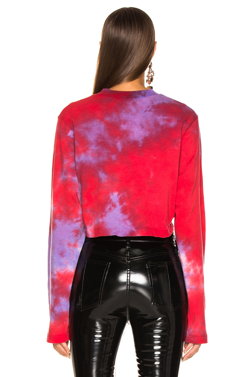 Image 3 of COTTON CITIZEN Tokyo Crop Long Sleeve in Cherry & Lavender Tie Dye