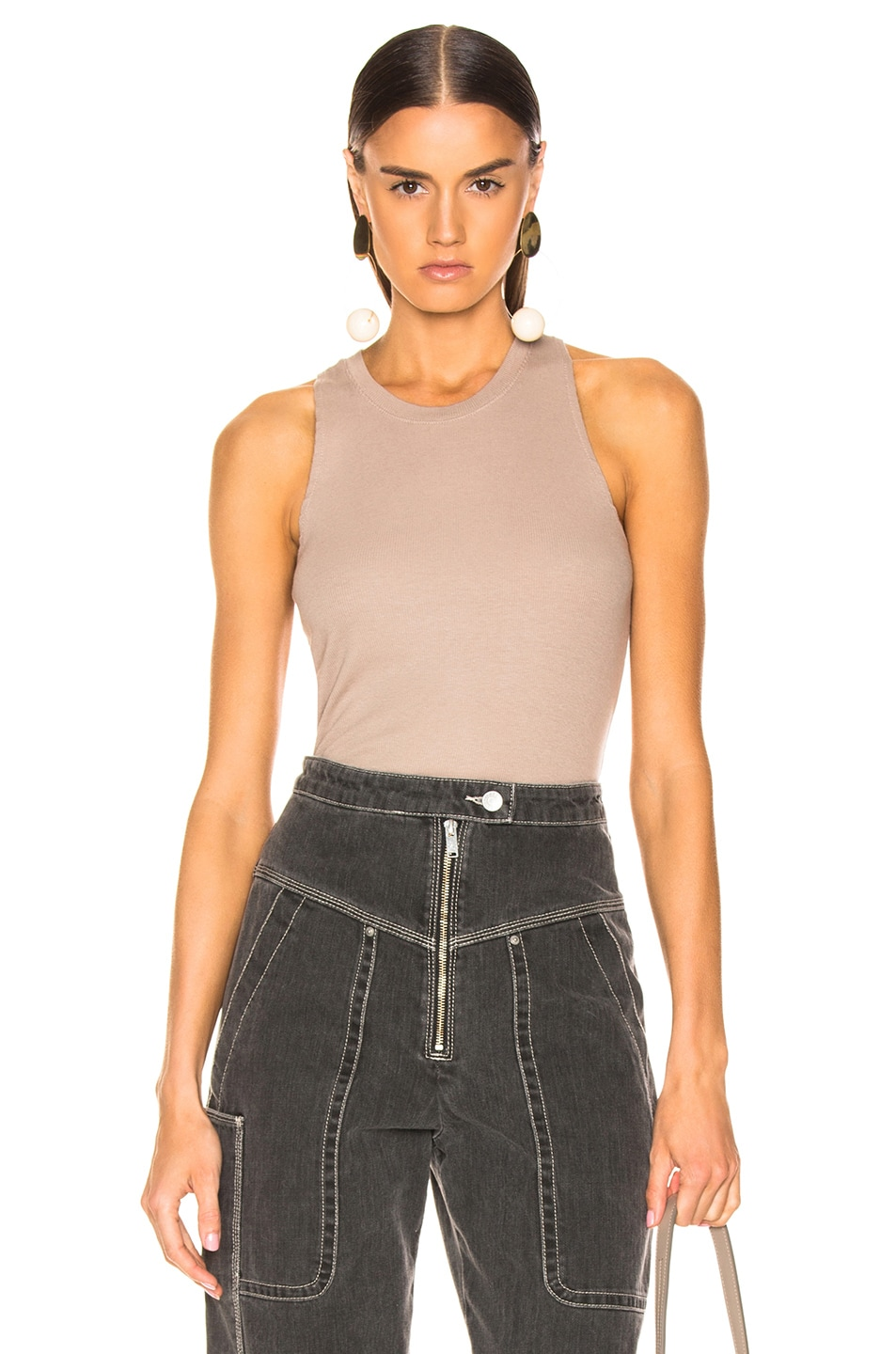 Image 1 of COTTON CITIZEN Venice Tank in Cappuccino