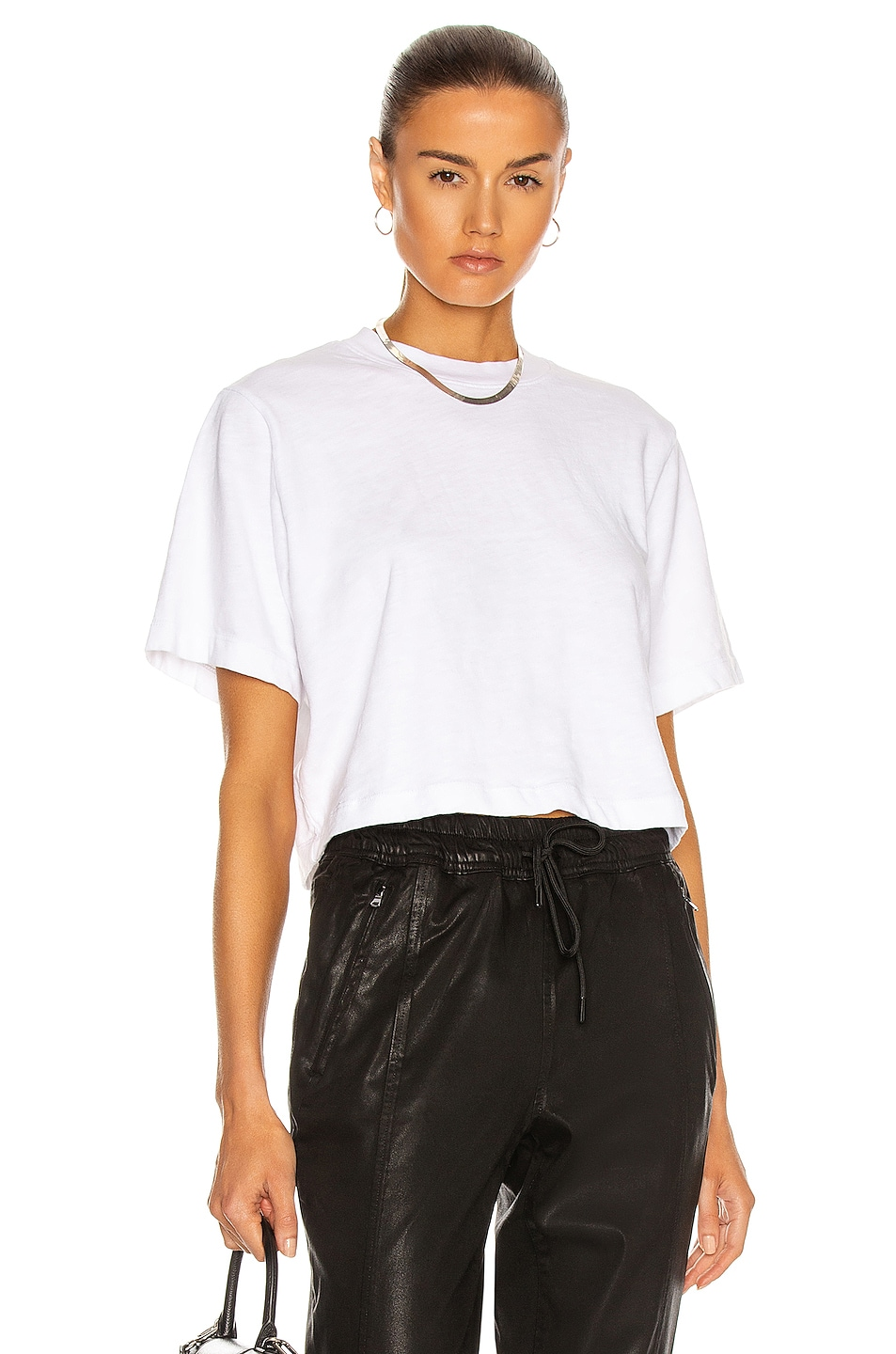 Image 1 of COTTON CITIZEN Tokyo Crop Tee in White