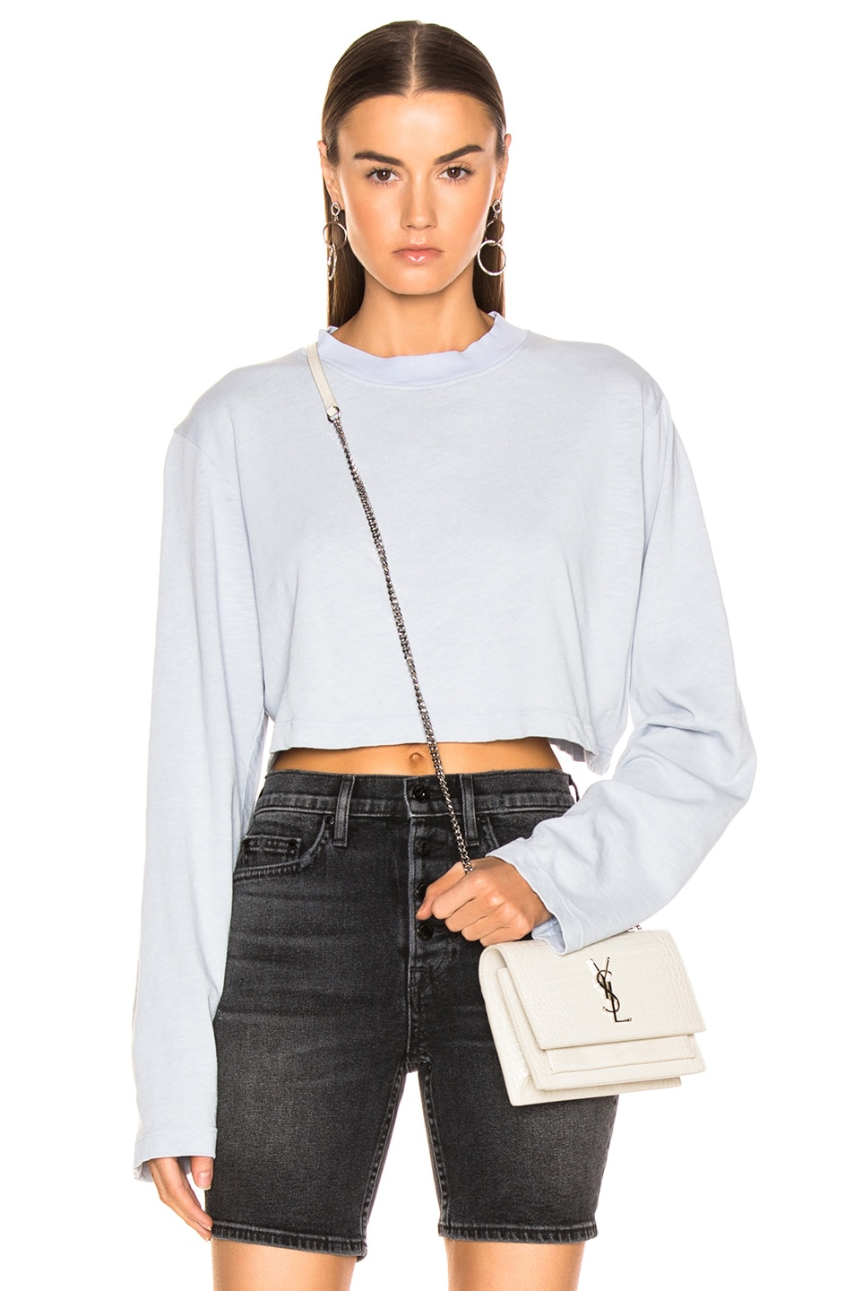 Image 1 of COTTON CITIZEN Tokyo Crop Long Sleeve in Crystalline