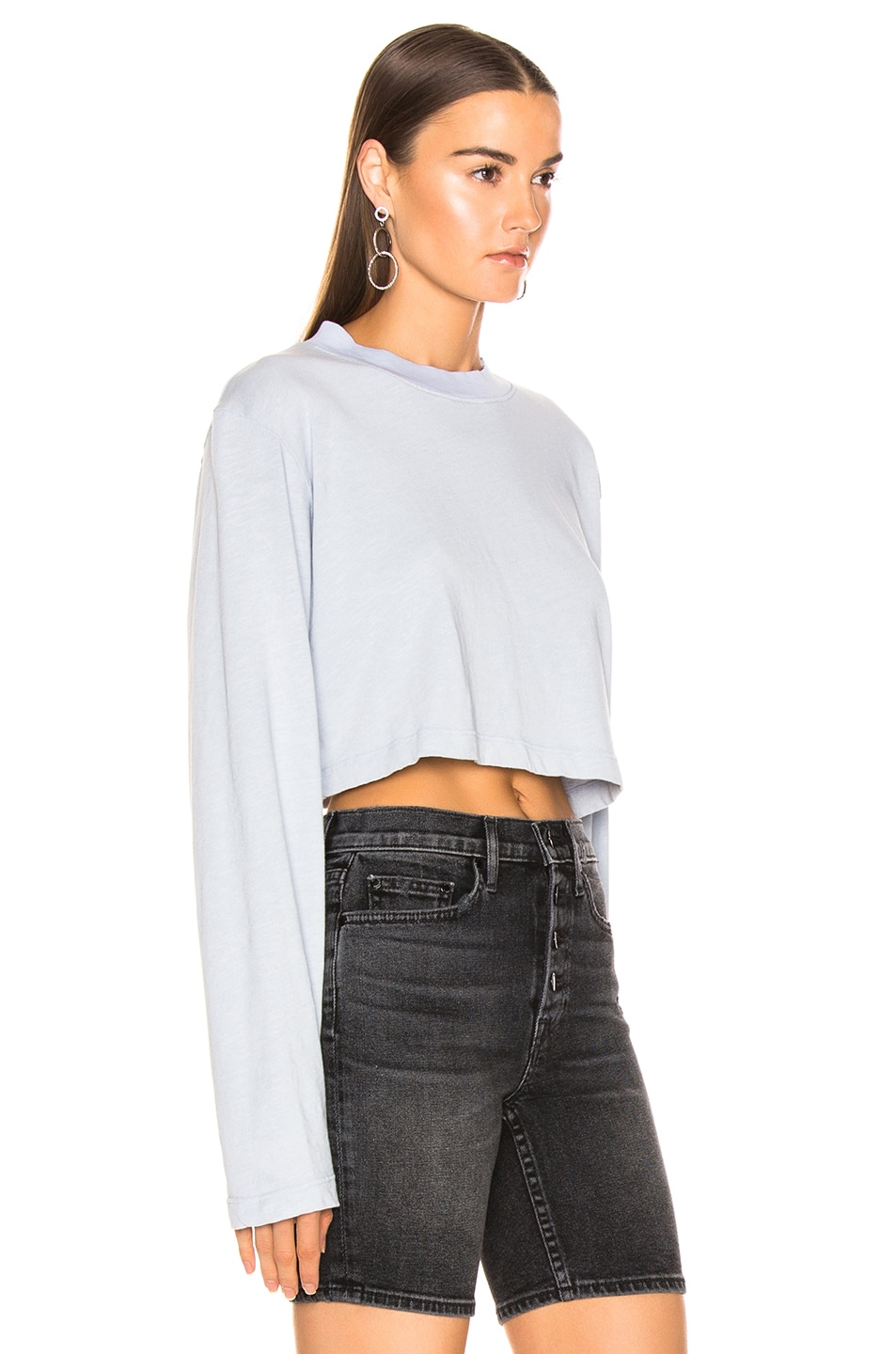 Image 2 of COTTON CITIZEN Tokyo Crop Long Sleeve in Crystalline