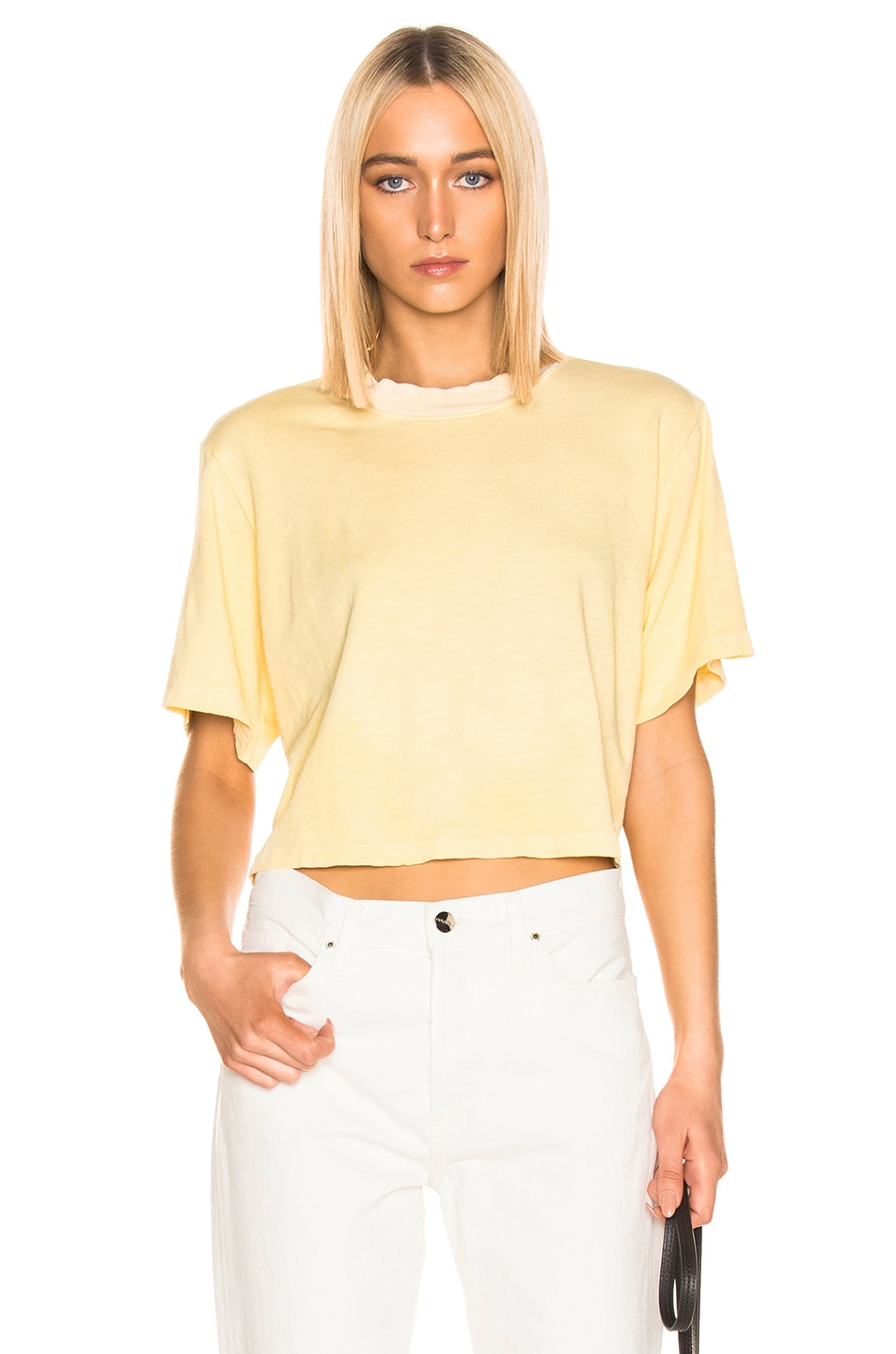 Image 1 of COTTON CITIZEN Tokyo Crop Tee in Daffodil