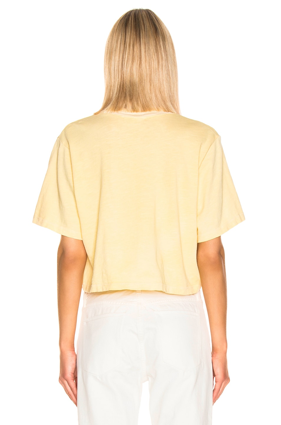 Image 3 of COTTON CITIZEN Tokyo Crop Tee in Daffodil