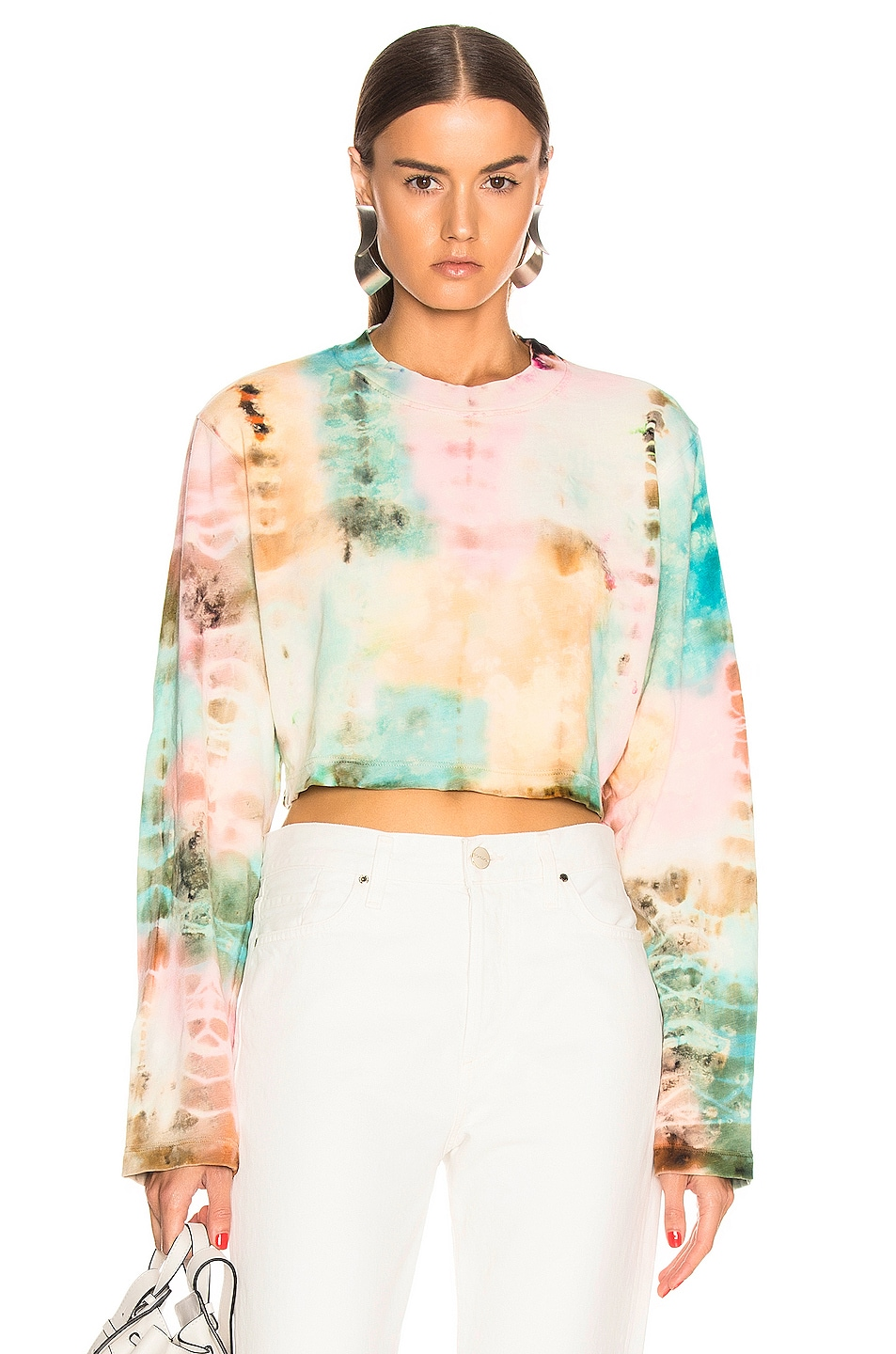 Image 1 of COTTON CITIZEN Tokyo Crop Long Sleeve Tee in Kaleidoscope Sky