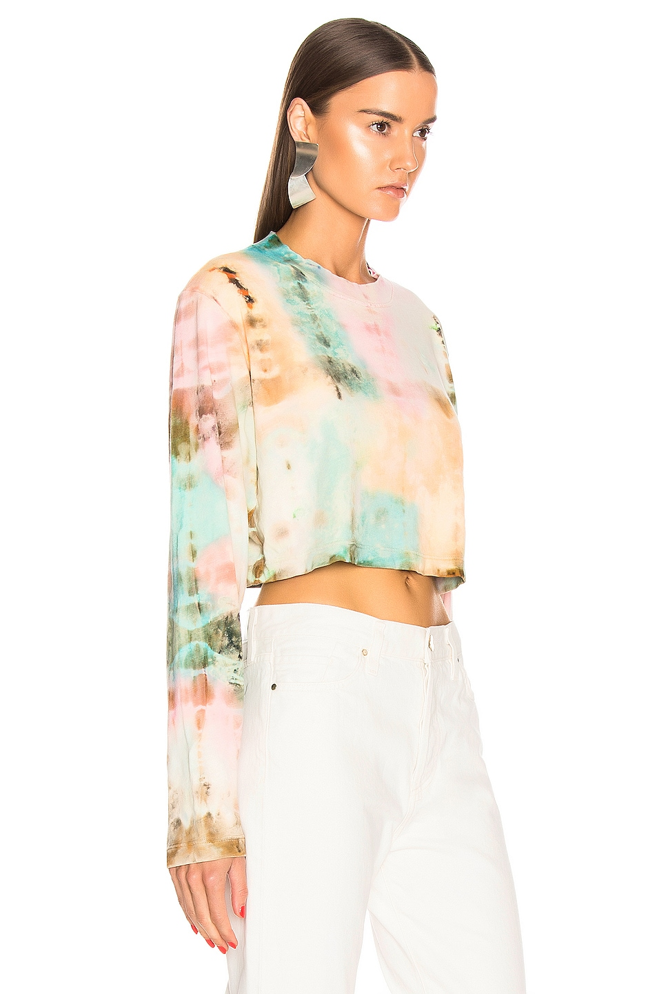 Image 2 of COTTON CITIZEN Tokyo Crop Long Sleeve Tee in Kaleidoscope Sky