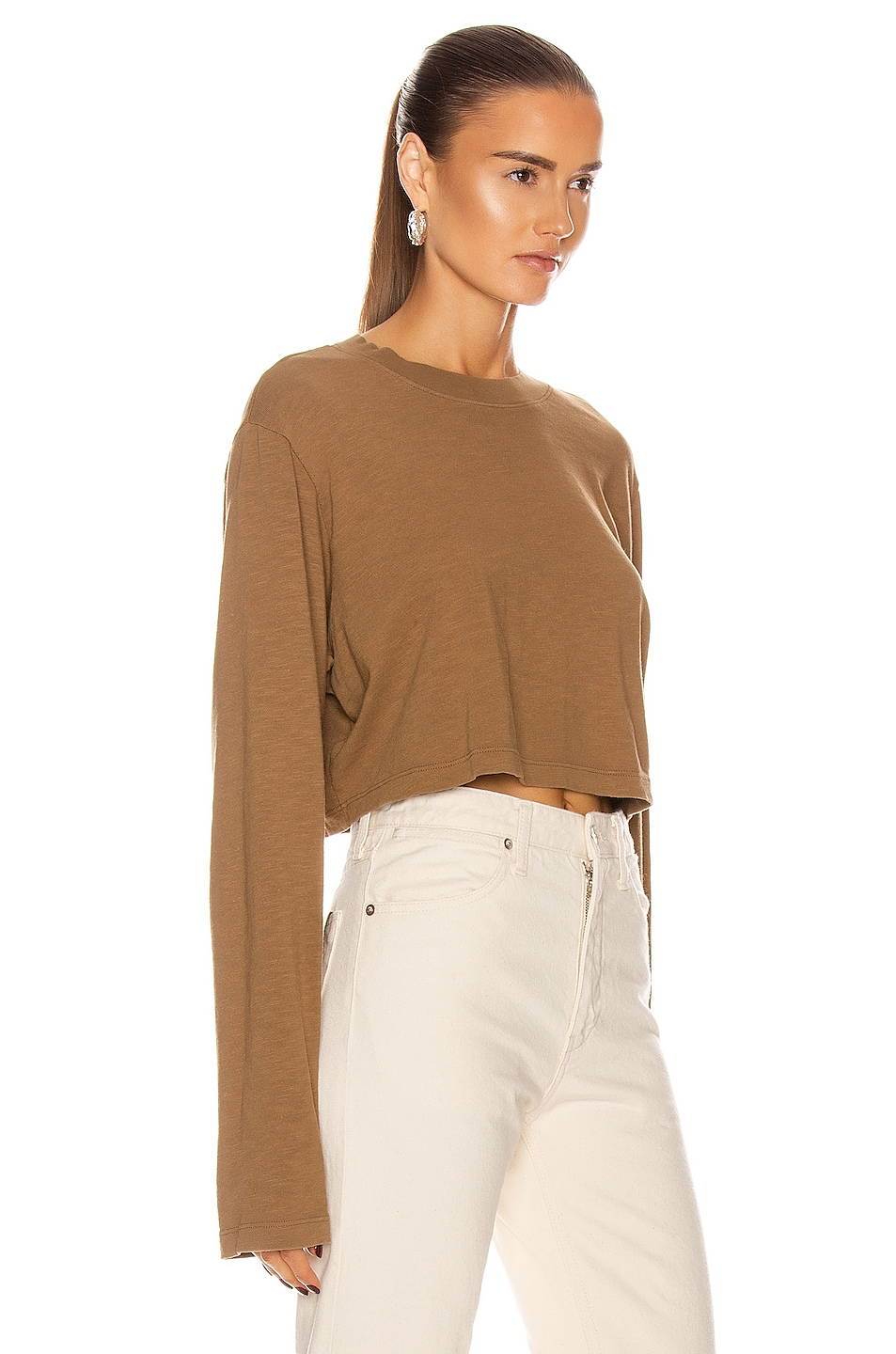 Image 2 of COTTON CITIZEN Tokyo Crop Long Sleeve in Java