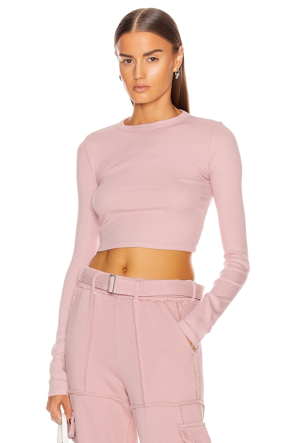 Image 1 of COTTON CITIZEN Verona Crop Shirt in Rose