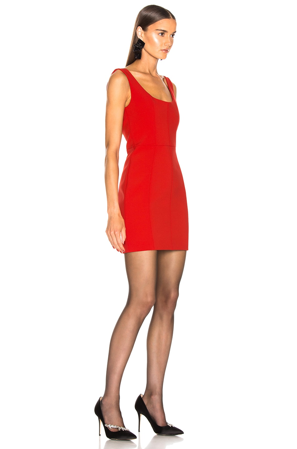 Image 2 of CARMEN MARCH Sleeveless Mini Dress in Red