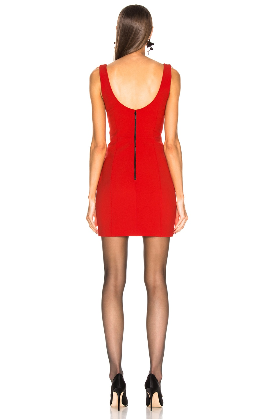 Image 3 of CARMEN MARCH Sleeveless Mini Dress in Red