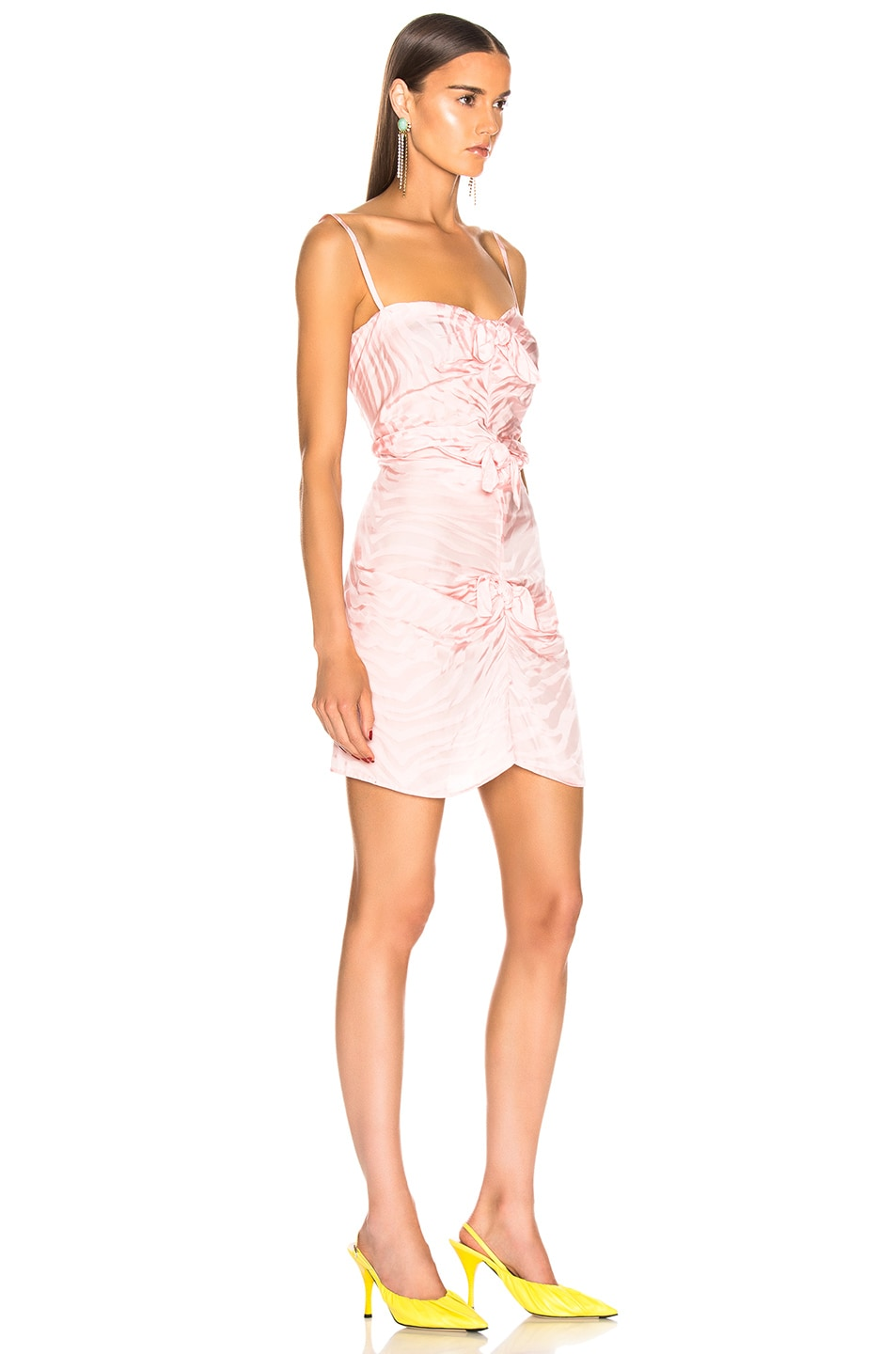Image 2 of CARMEN MARCH Zebra Tie Mini Dress in Pink
