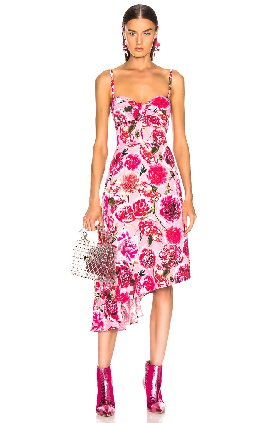 Image 1 of CARMEN MARCH Carnation Sleeveless Dress in Pink