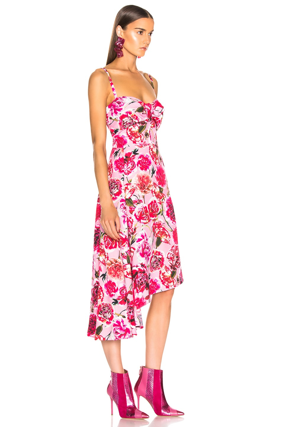 Image 2 of CARMEN MARCH Carnation Sleeveless Dress in Pink
