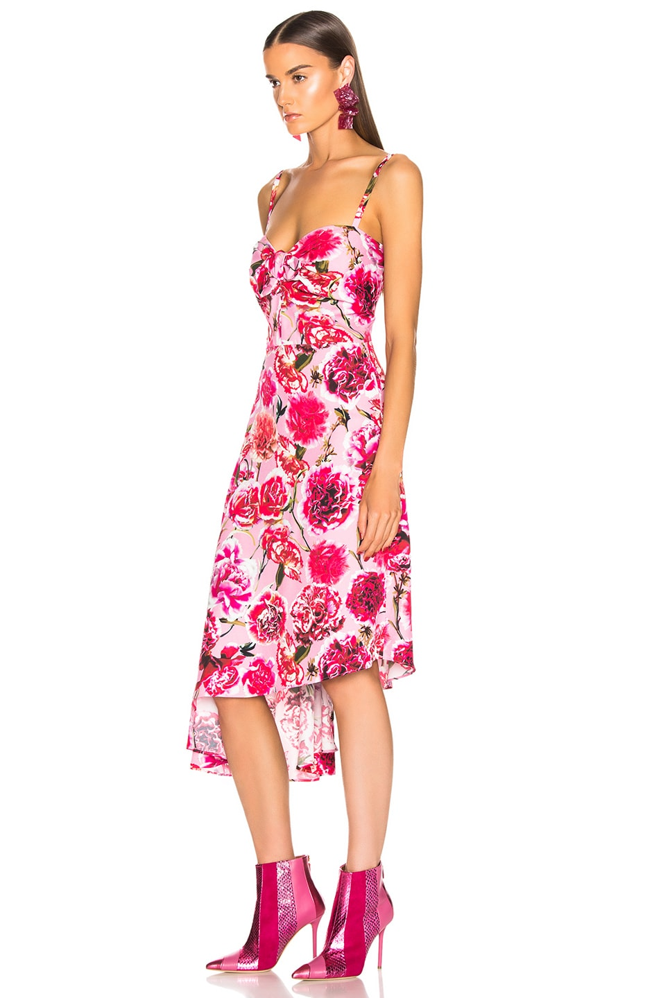 Image 3 of CARMEN MARCH Carnation Sleeveless Dress in Pink