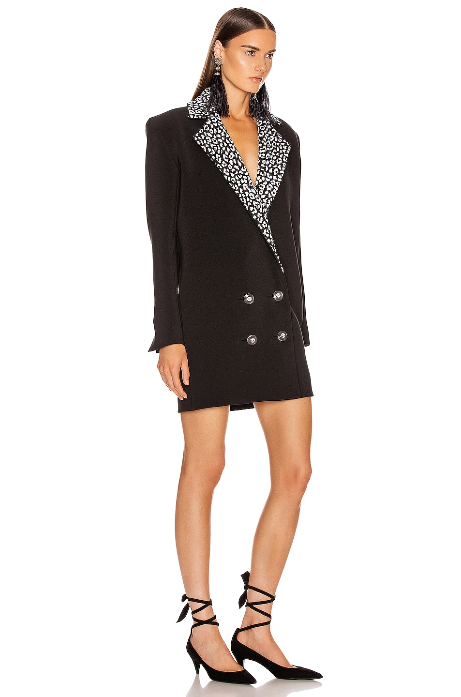 Image 2 of CARMEN MARCH Double Label Coat Dress in Black