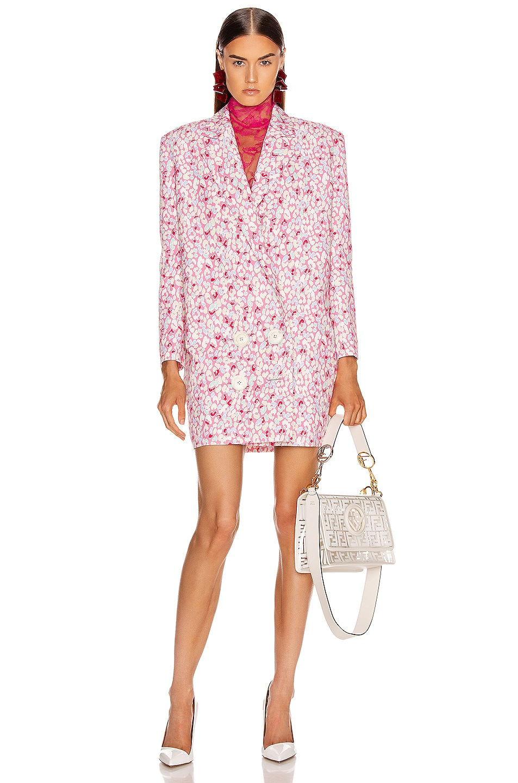 Image 1 of CARMEN MARCH Printed Coat Dress in Tutti Frutti