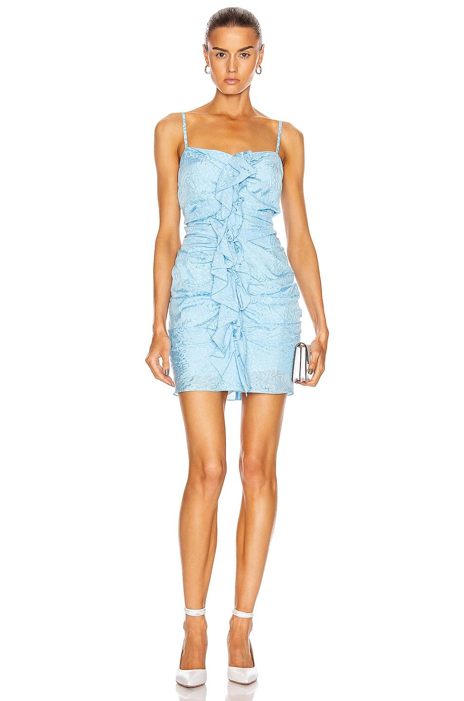 Image 1 of CARMEN MARCH Ruffle Mini Dress in Blue