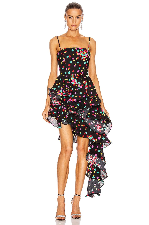 Image 1 of CARMEN MARCH Asymmetrical Ruffle Dress in Confetti