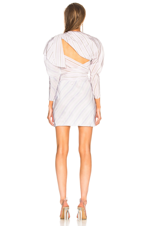 Image 4 of CARMEN MARCH Draped Mini Dress in Lilac & Grey