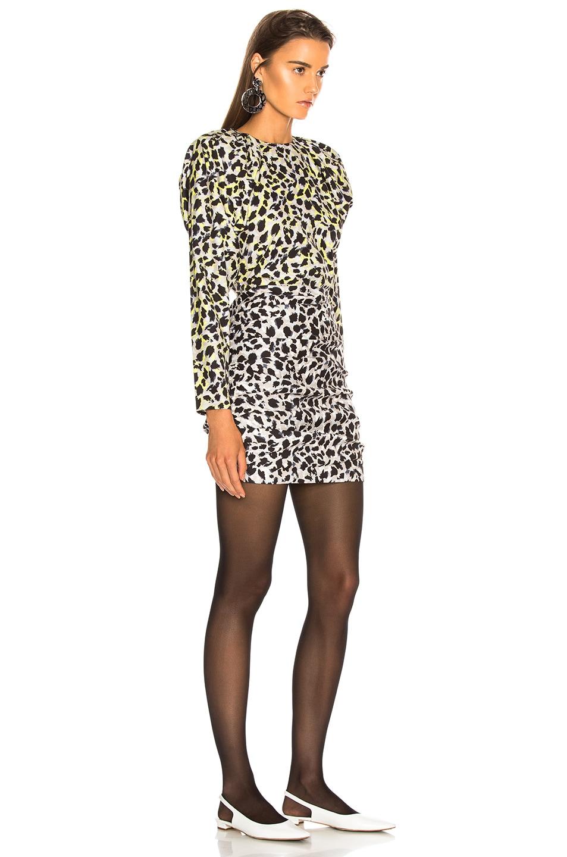 Image 3 of CARMEN MARCH Leopard Dress in Grey & Green
