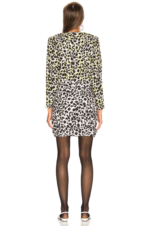 Image 4 of CARMEN MARCH Leopard Dress in Grey & Green