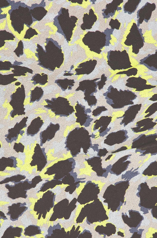 Image 5 of CARMEN MARCH Leopard Dress in Grey & Green