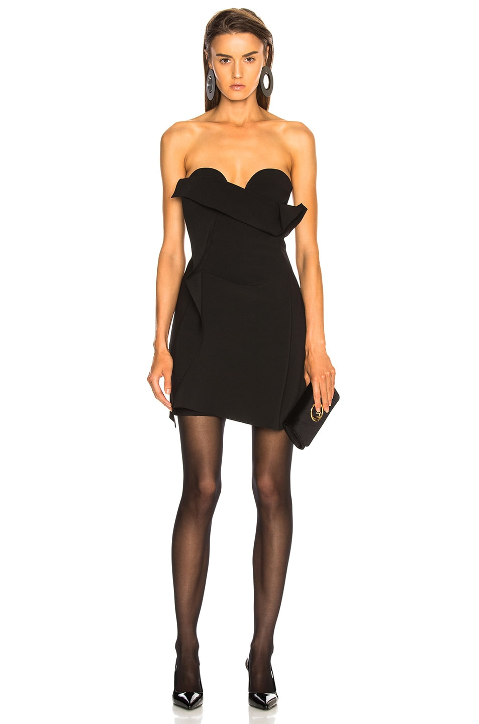 Carmen March STRAPLESS MINI DRESS
