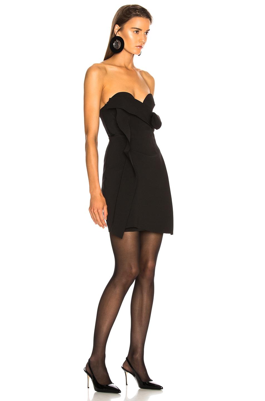 Image 2 of CARMEN MARCH Strapless Mini Dress in Black