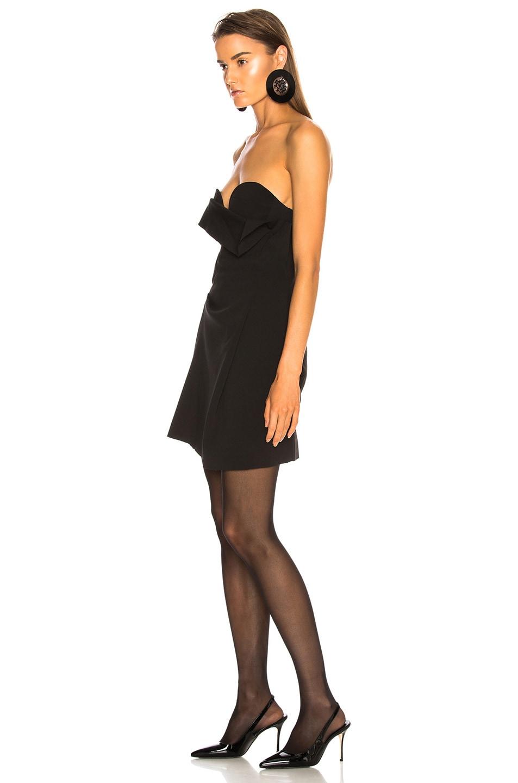 Image 3 of CARMEN MARCH Strapless Mini Dress in Black