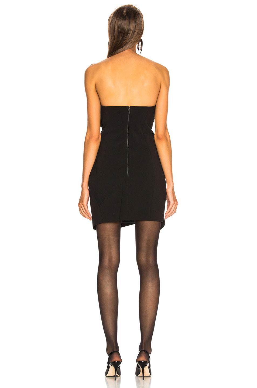 Image 4 of CARMEN MARCH Strapless Mini Dress in Black