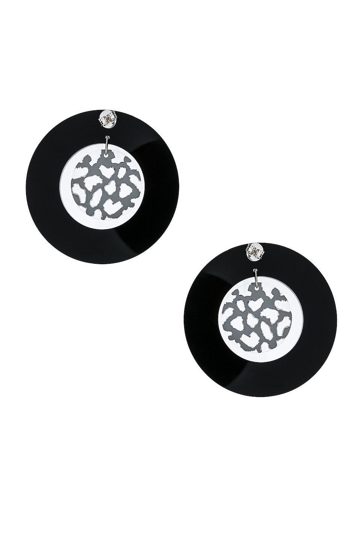 Image 4 of CARMEN MARCH Double Disc Earrings in Black