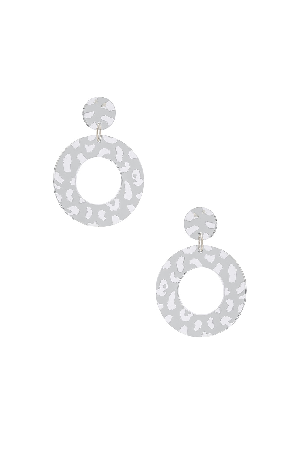 Image 1 of CARMEN MARCH Disc Earrings in Silver