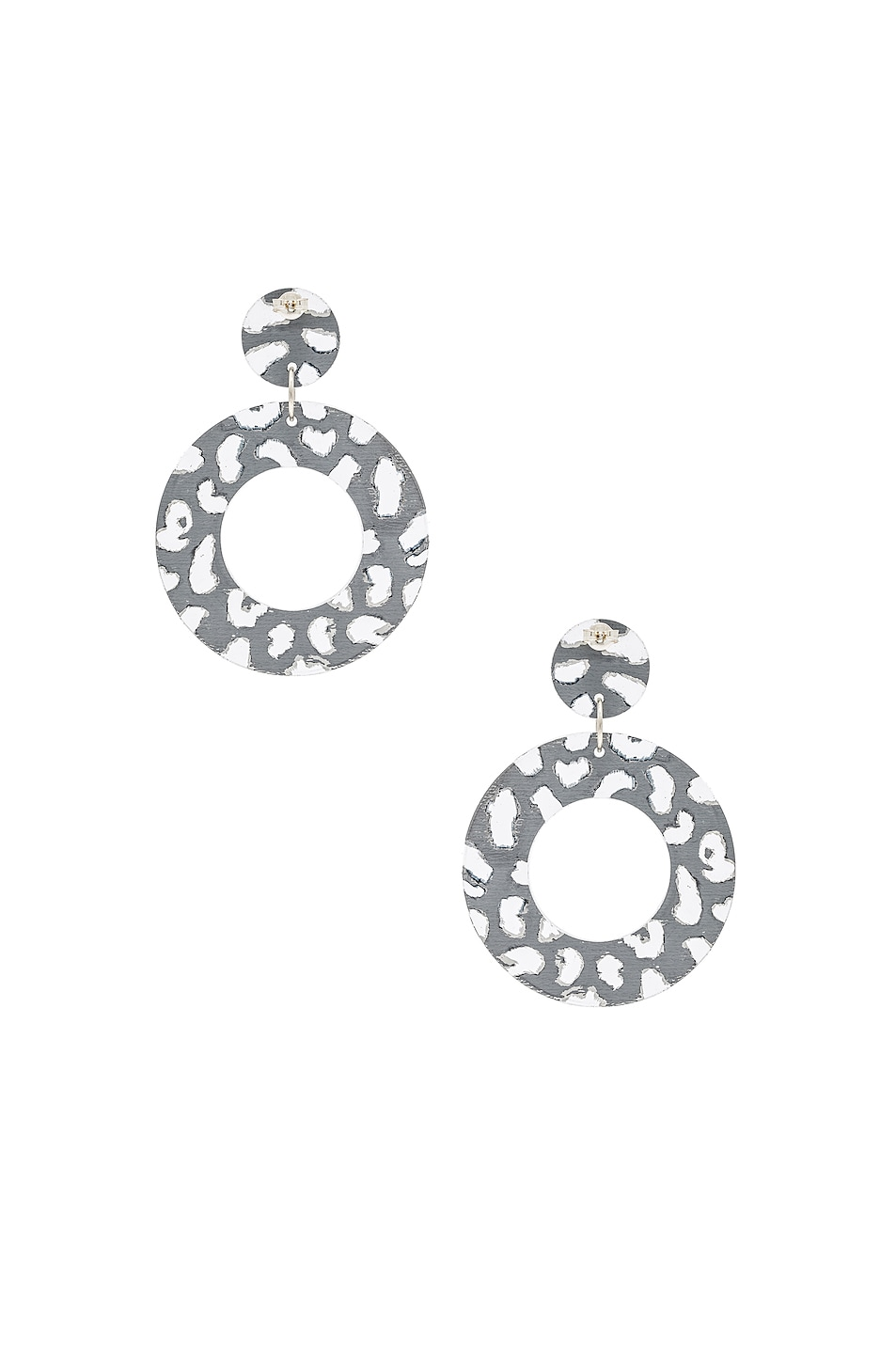 Image 4 of CARMEN MARCH Disc Earrings in Silver