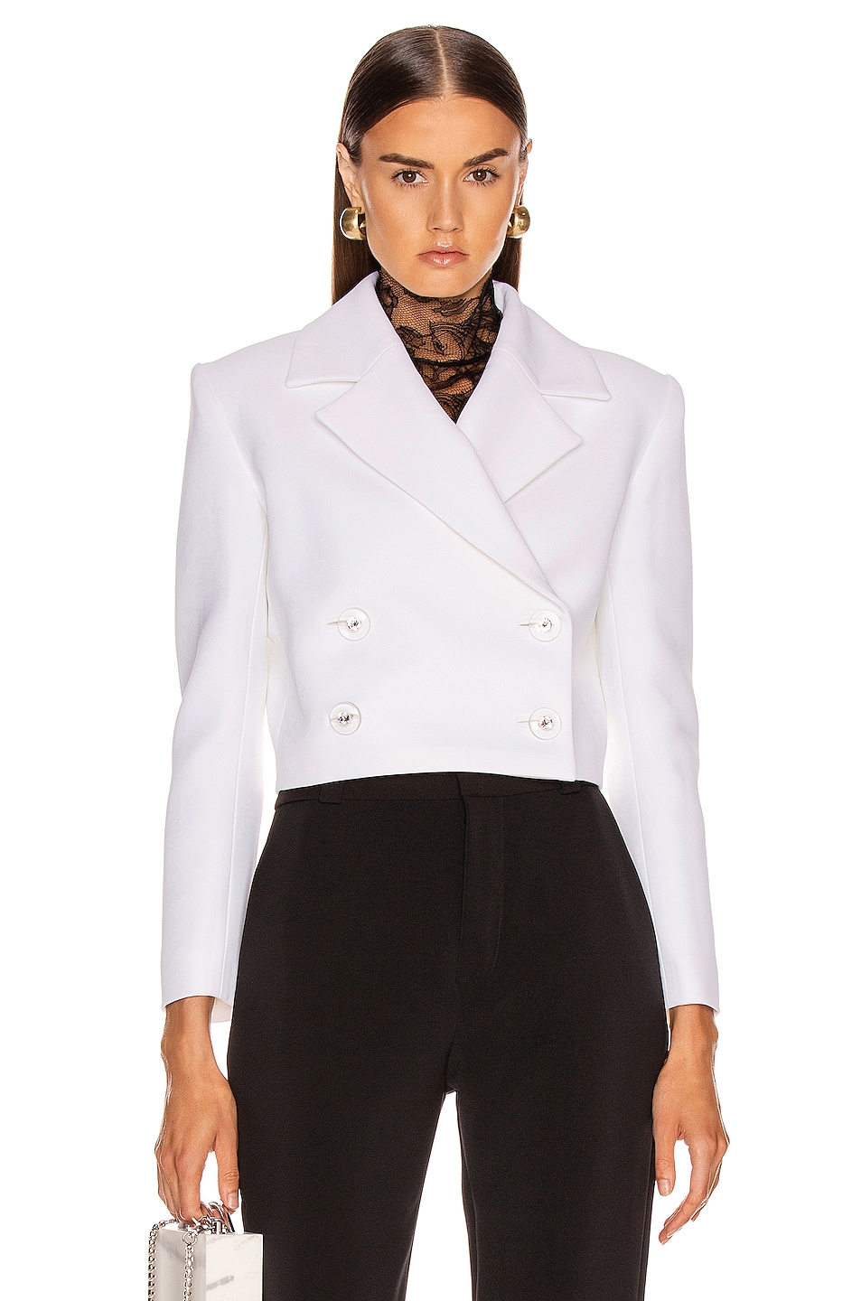 Image 1 of CARMEN MARCH Double Lapel Jacket in White
