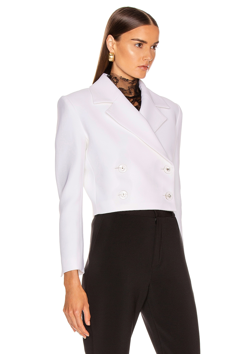 Image 2 of CARMEN MARCH Double Lapel Jacket in White