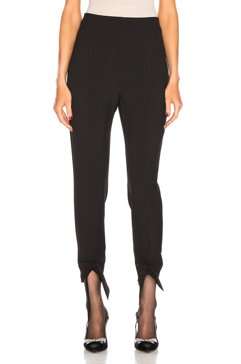 Carmen March CARMEN MARCH TIE PANT IN BLACK.