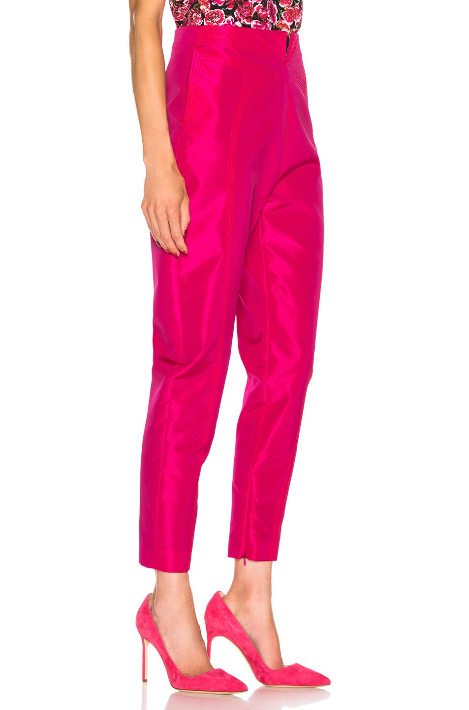 Image 2 of CARMEN MARCH High Waisted Pant in Fuchsia
