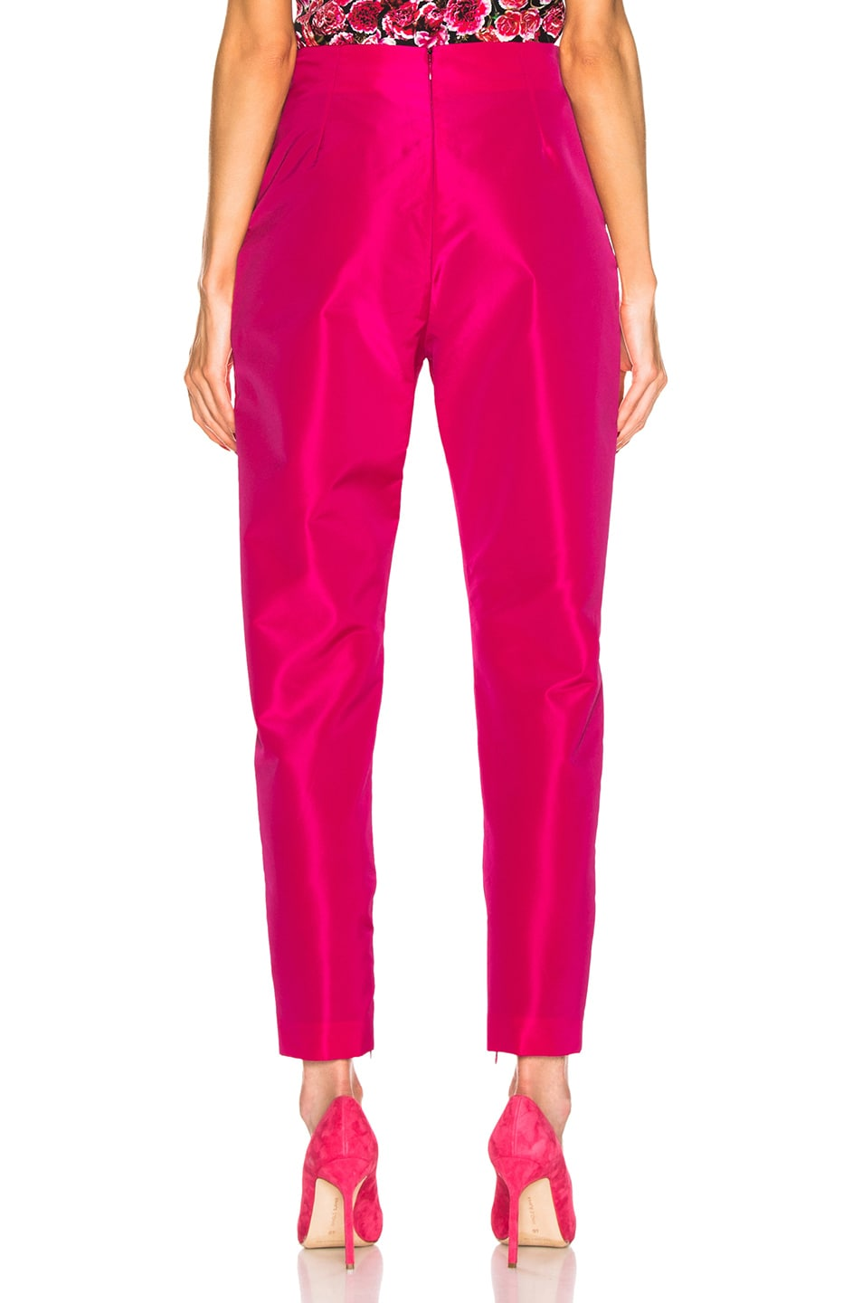 Image 3 of CARMEN MARCH High Waisted Pant in Fuchsia