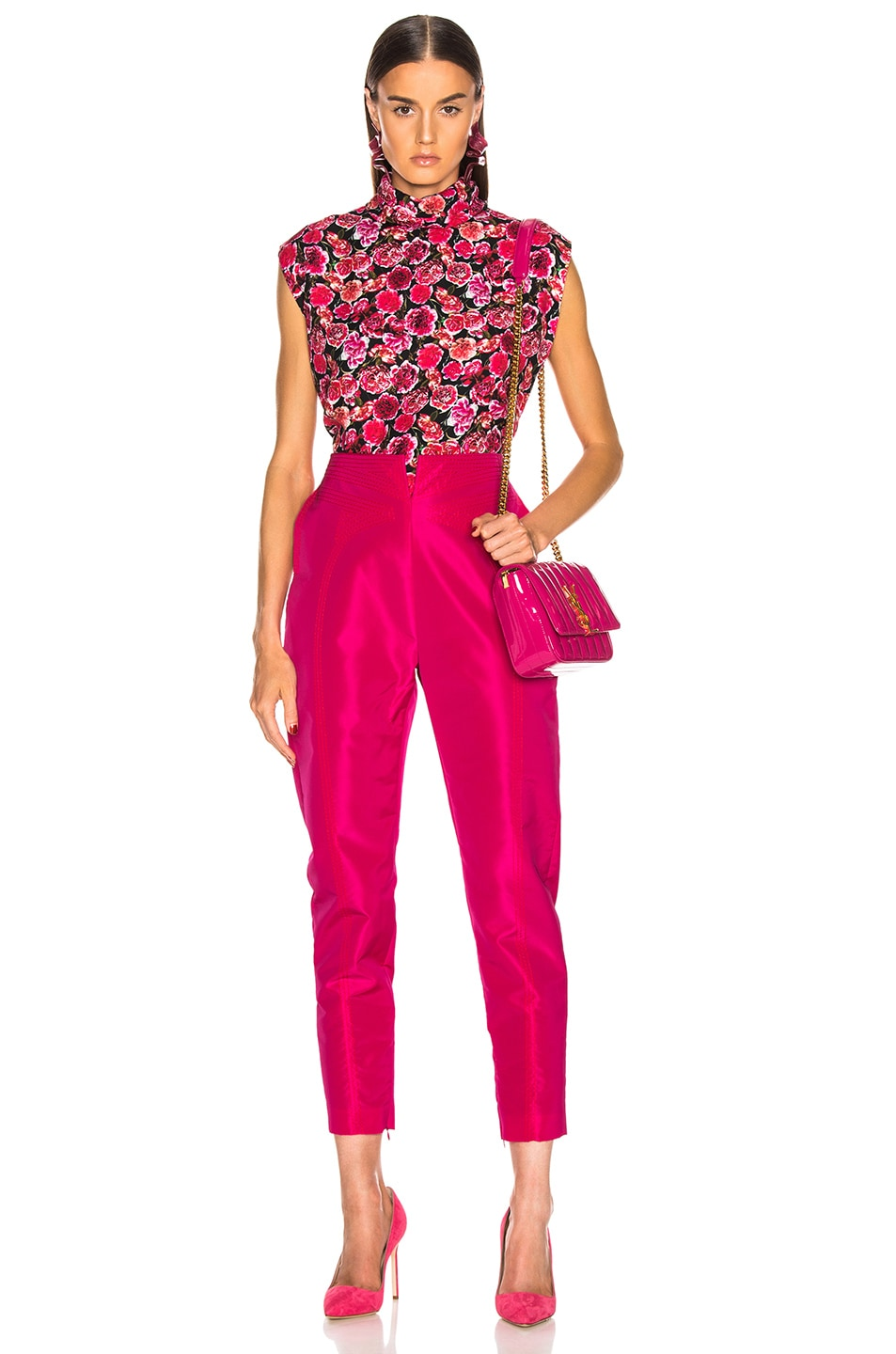 Image 4 of CARMEN MARCH High Waisted Pant in Fuchsia