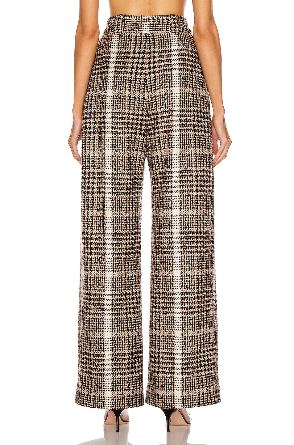 Image 3 of CARMEN MARCH Wide Leg Pant in Black & Caramel