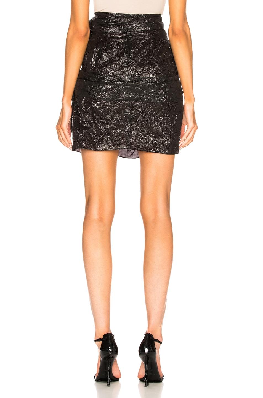 Image 4 of CARMEN MARCH Buckle Mini Skirt in Black