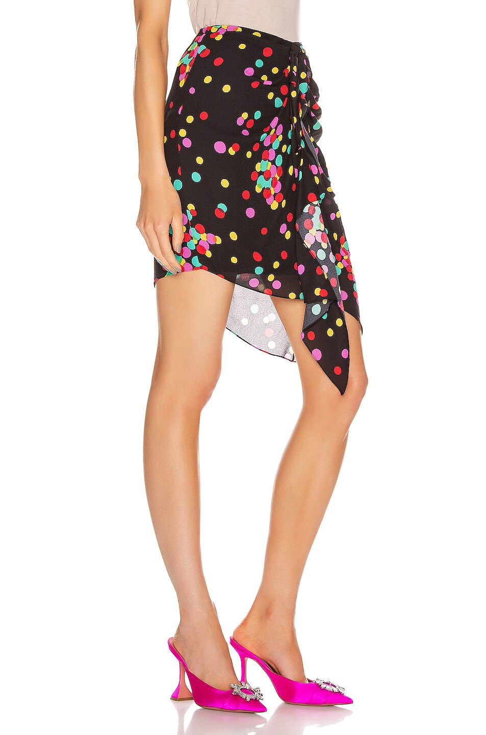 Image 2 of CARMEN MARCH Ruched Skirt in Confetti