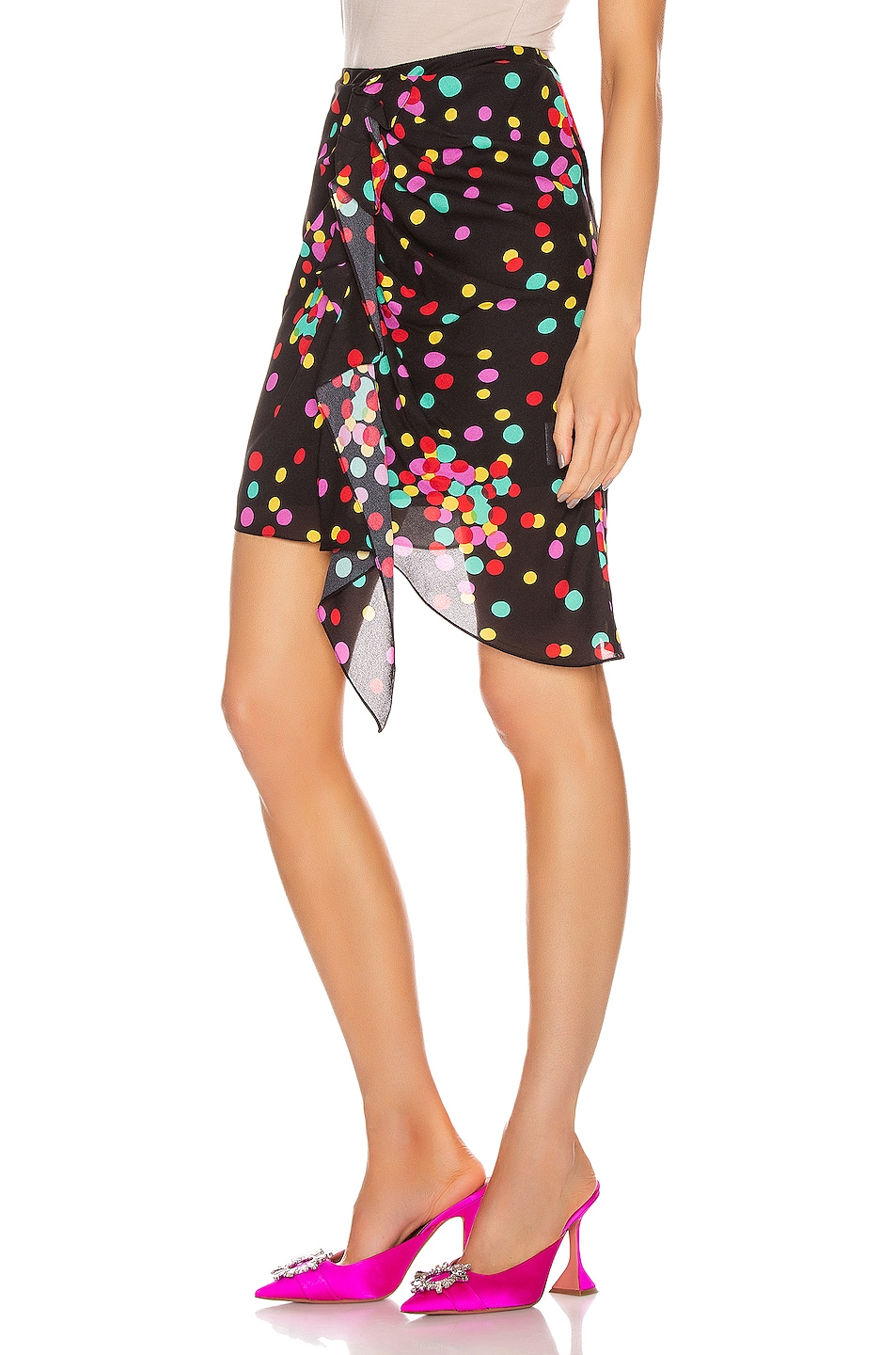 Image 3 of CARMEN MARCH Ruched Skirt in Confetti