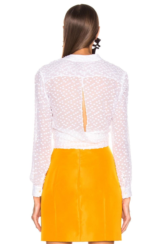 Image 4 of CARMEN MARCH Polka Dot Tie Top in White