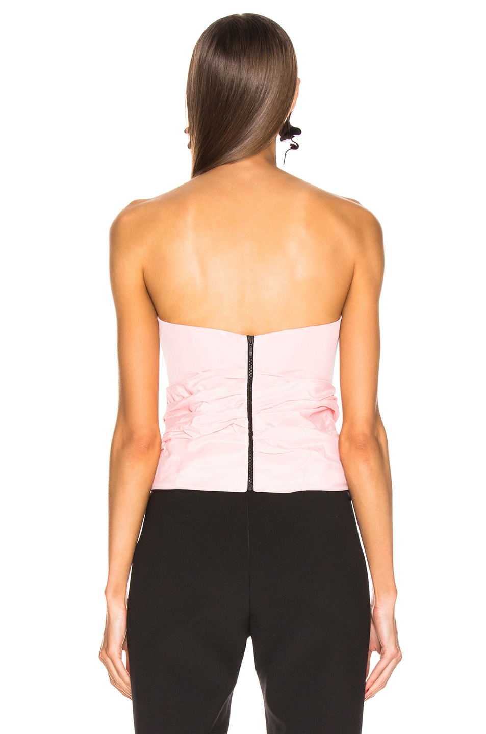 Image 3 of CARMEN MARCH Strapless Bow Top in Pink