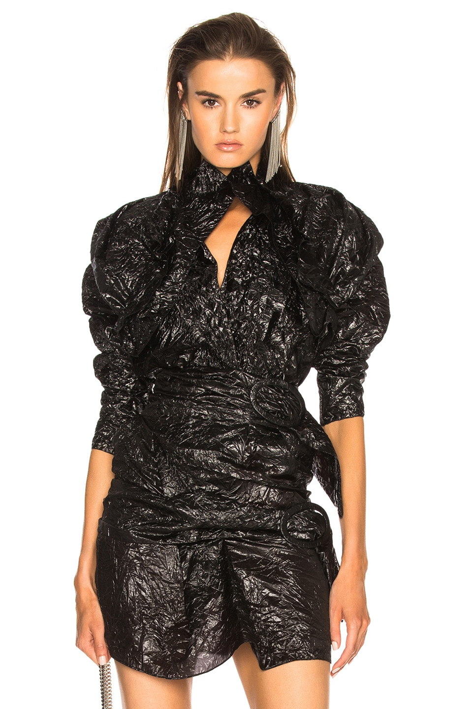 Image 1 of CARMEN MARCH Ruffle Top in Black