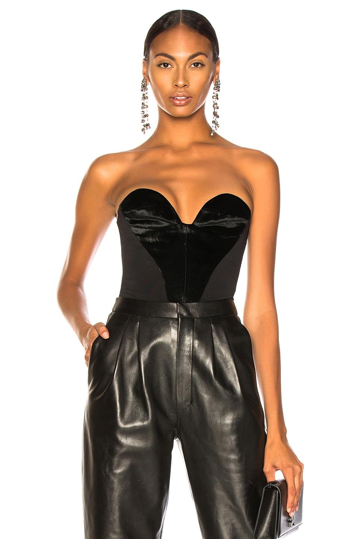 Image 1 of CARMEN MARCH Velvet Sweetheart Top in Black