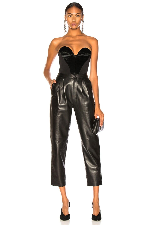 Image 4 of CARMEN MARCH Velvet Sweetheart Top in Black