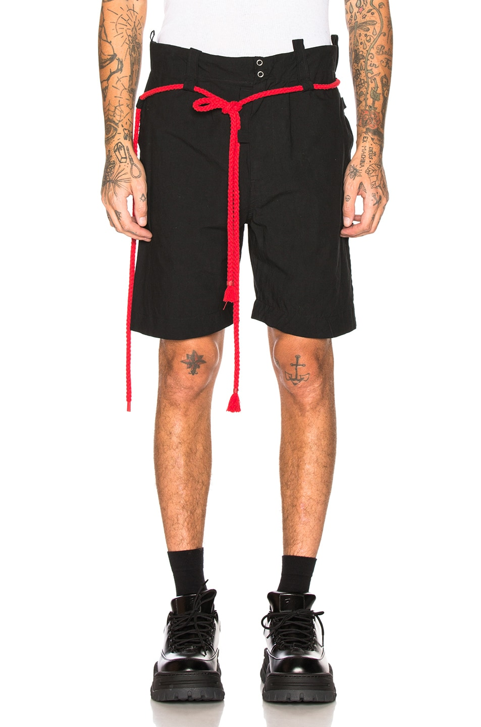 Image 2 of Craig Green Rope Shorts in Black